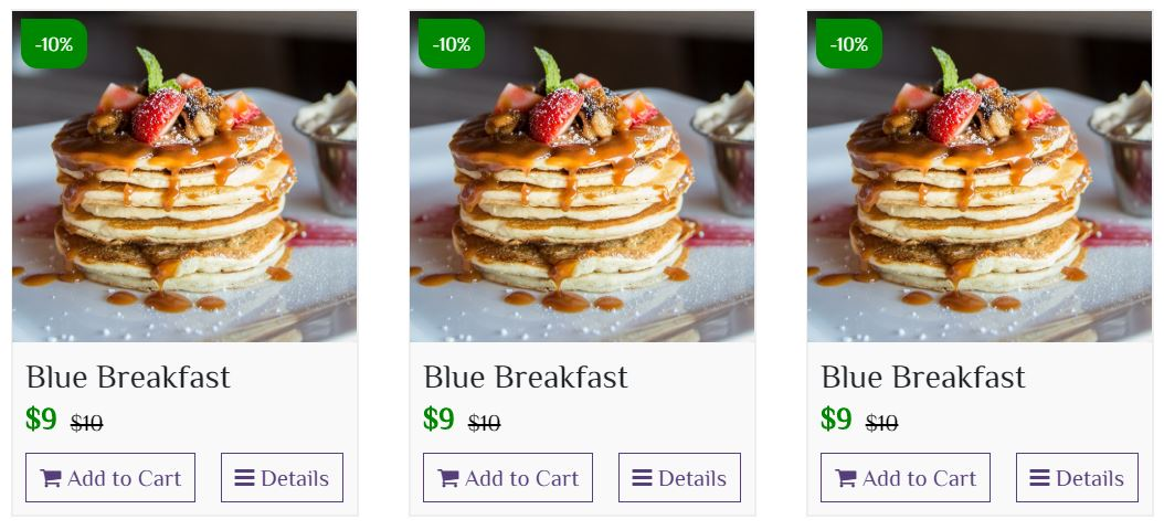 Product List Layout – Bootstrap 4